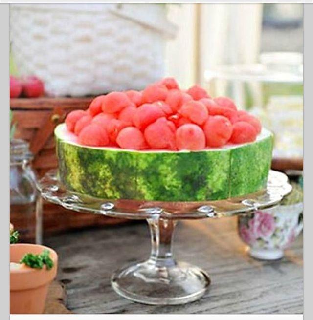 Neat way to serve watermelon
