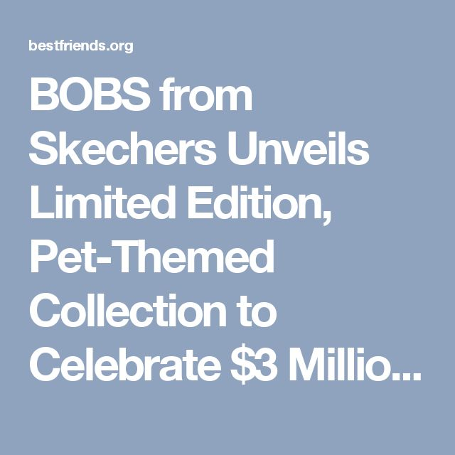 BOBS from Skechers Unveils Limited Edition, Pet-Themed Collection to Celebrate $3 Million Commitment to Best Friends Animal Society | Best Friends Animal Society