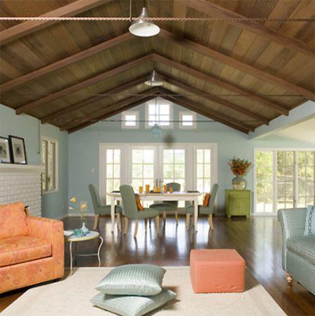 Superb Living Room With Pinkish Peach Accents, Pantone Cadmium Orange, Persimmon,  Peach And Idea