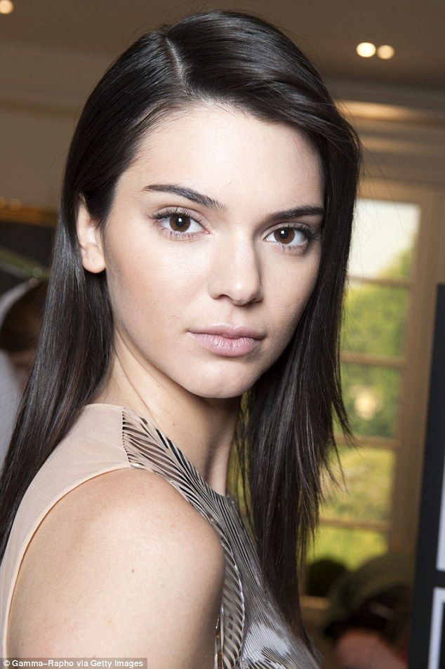 Gorgeous: Kendall has now taken her clear skin to beauty brand Estée Lauder, where she is a spokesmode