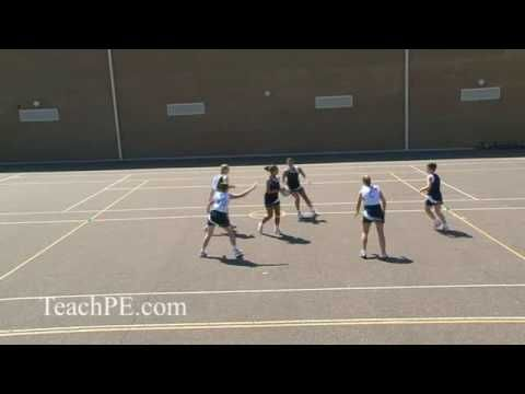 Netball Drill - Attacking Movement - 3v3