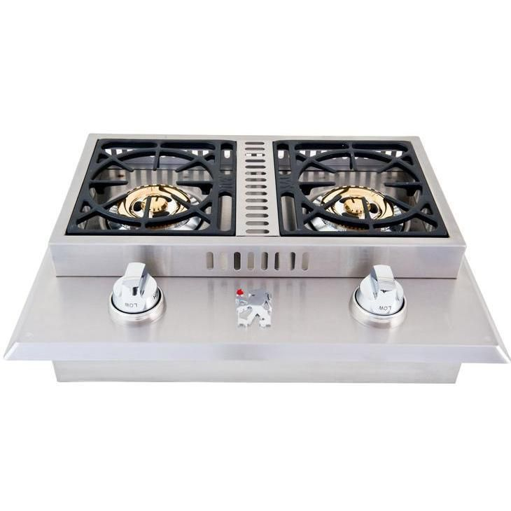 Lion Drop-In Side Burner - Double Stainless Steel Natural Gas available at BBQ…
