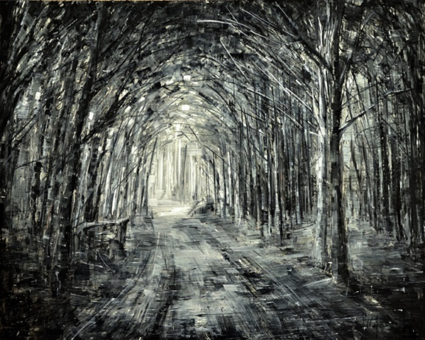 Path - 2011 oil on panel -    Paintings by Valerio D'Ospina
