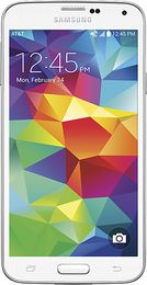 """Samsung - Galaxy S 5 4G Cell Phone - Shimmery White (AT&T) (887276972862) Samsung Galaxy S 5 SM-G900A Cell Phone for AT&T: With a 5.1"""" full HD touch screen, this Samsung Galaxy S 5 cell phone allows you to read texts and e-mails, view photos, watch videos and play games in stunning high-definition. The quad-core Qualcomm Snapdragon 801 processor and 2GB of RAM deliver exceptional performance for apps, menu navigation and more.   AT&T Next option available. Learn more ›"""