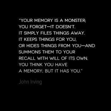 "Favorite quote from John Irving in ""The Prayer for Owen Meany"""
