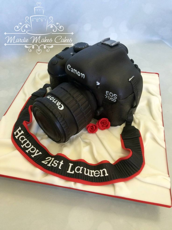 camera cake Mardie makes cakes