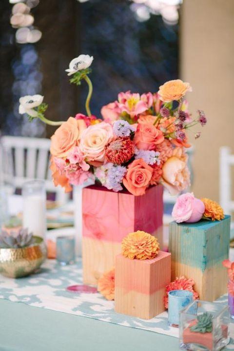 Watercolor Wedding  we ❤ this!  moncheribridals.com  #weddingcenterpiece #watercolorwedding