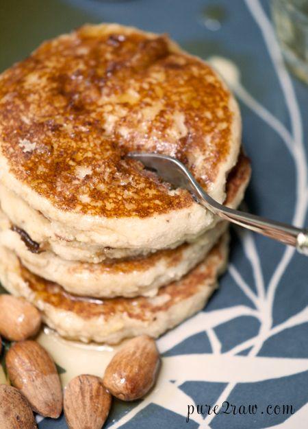 Lemon Almond Pancake: Almonds Pancakes, Lemon Almonds, Gluten Free Pancakes, Breads Pancakes, Almonds Gluten, Gluten Free Vegans, Pancakes Gluten, Gf Lemon, Blueberries