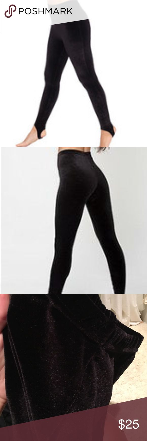 American Apparel Stretch Velvet Stirrup Legging Black American Apparel Stretch Velvet Stirrup Legging. In great condition. Pictured just as the first picture! American Apparel Pants Leggings