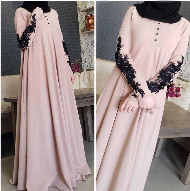 """3,554 Likes, 98 Comments - Для сестер, с любовью❤ (@asiya_salyafi) on Instagram: """"_ Ассаляму аляйкумИ вот опять у нас, такое простое,но в тоже время милое платье, с черным шарфом,…"""""""
