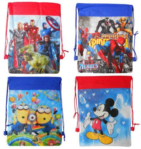 269 New Disney Drawstring Bag Boys Childrens Kids