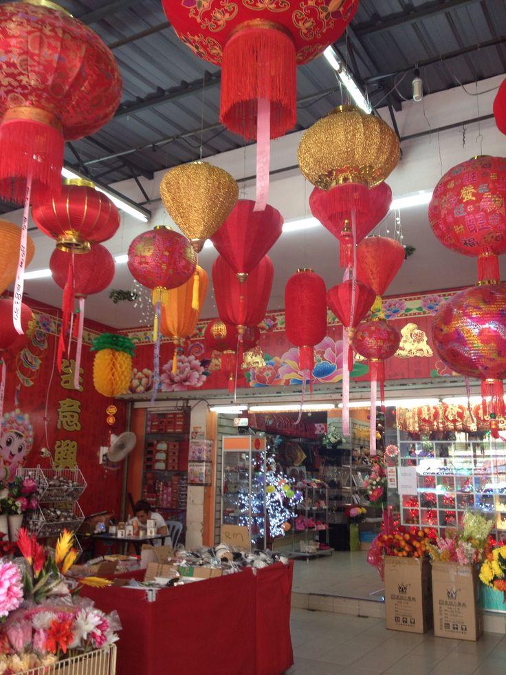 Lampen in China town Maleisië