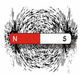 Campo magnetico prodotto da una barra magnetizzata oppure di  magnete permanente (ossido di ferro) di opportuna forma,dimensione e peso.