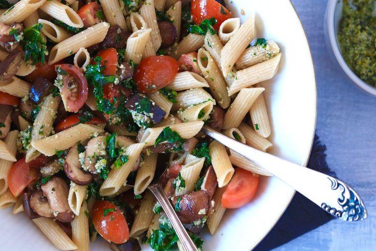 Winterse pastasalade met boerenkool