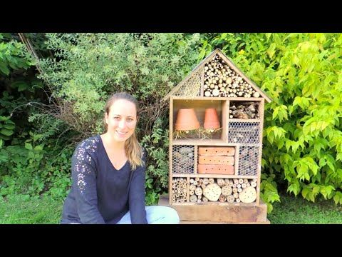 DIY | Hôtel à Insectes | Building insect hotel - YouTube