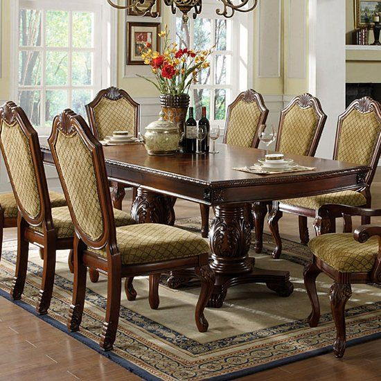 15 best images about 6 formal dining room on pinterest for Formal dining room table and chairs