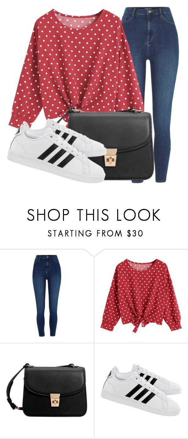 """Outfit #1953"" by lauraandrade98 on Polyvore featuring moda, River Island, MANGO y adidas"