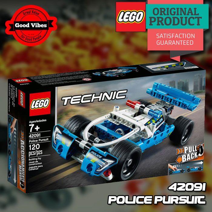 Lego Technic 42091 Police Pursuit Mobil Polisi Mainan Anak Original Mobil Polisi Lego Mainan Anak