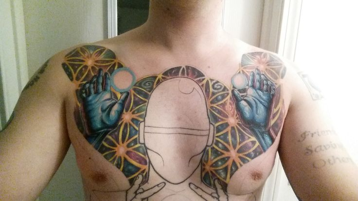 (Update) God for the Godless By Steve Cummings @ Tattoo Angus Manchester NH. Full Front Torso Tattoo