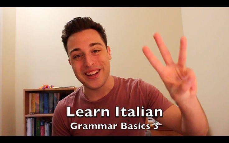 Learn Italian - Grammar Basics 3 - The Future Tense (+playlista)