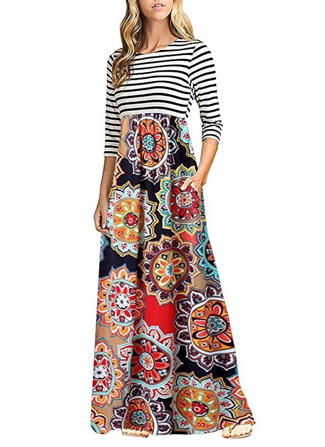 8412b2e4da057 OURS Maxi Dresses for Women Plus Size (A-Pattern2