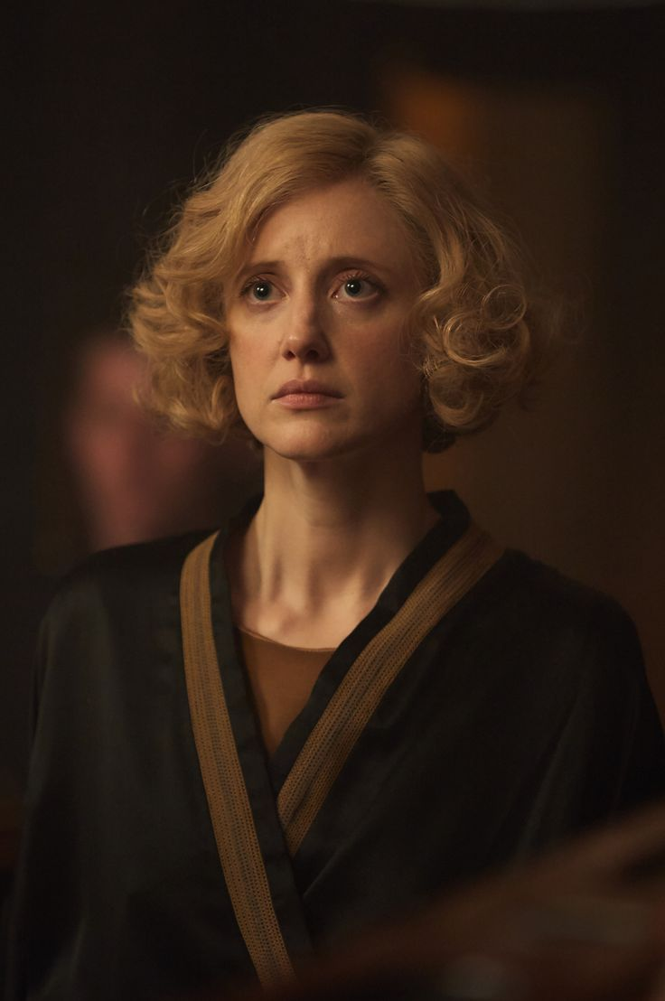 Romaine andrea riseborough in the witness for the prosecution set in the tv mini series