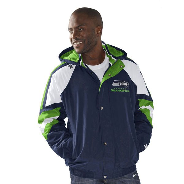 Seattle Seahawks Starter Pro Jacket - College Navy