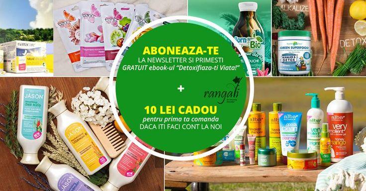 """Primeste 10 LEI + E-book CADOU """"Detoxifiaza-ti viata"""" daca te abonezi la newsletterul Rangali ;) www.rangali.ro  #ebookdetoxifiere"""