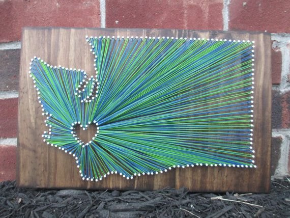 String Art State Any State Washington  Home is by AJLyonsDesigns, $55.00