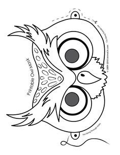 cute printable halloween animal paper masks owl mask coloring page fantasy jr pp this mask could be coloured in which could be another interactive