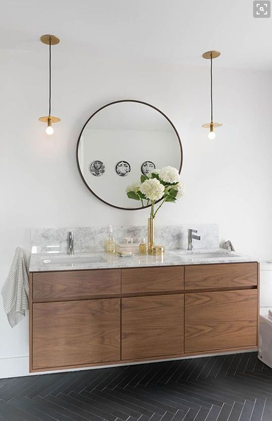 Walnut and marble combination