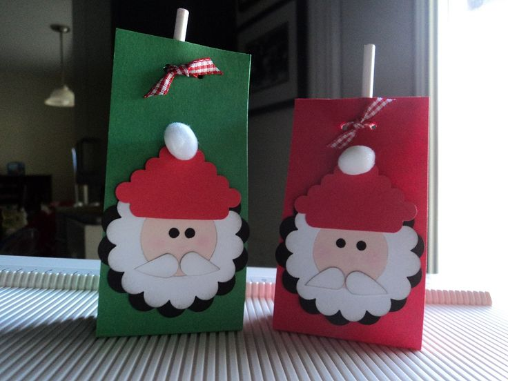 Card Corner by Candee: Santa lollipops