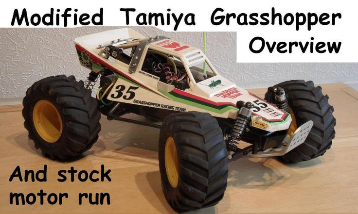 Tamiya Grasshopper with IFS, truck wheels & other mods.