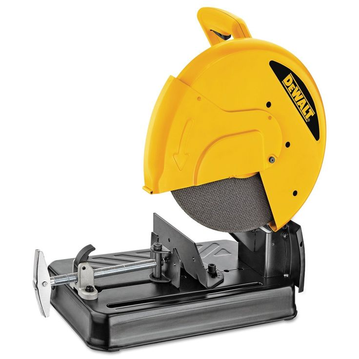 Metal chop saws are circular saws mounted on a pivot arm anchored in a metal base. Many models can rotate 45 degrees in either direction to create angled cuts. Metal chop saws are designed to either cut metal & other hard materials or to crosscut wood.