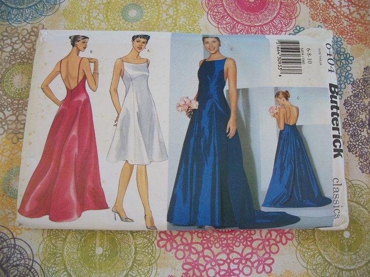 Butterick Pattern Classics 6404 Misses Special Occasion Size 6-8-10 Uncut. #Butterick