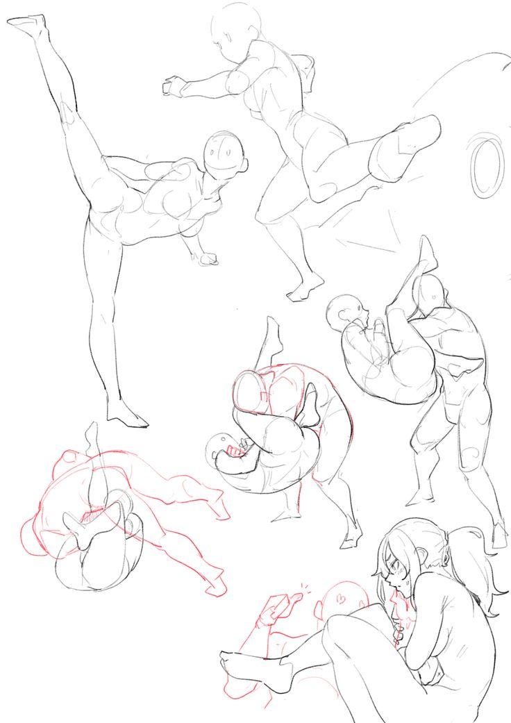 Fighting poses