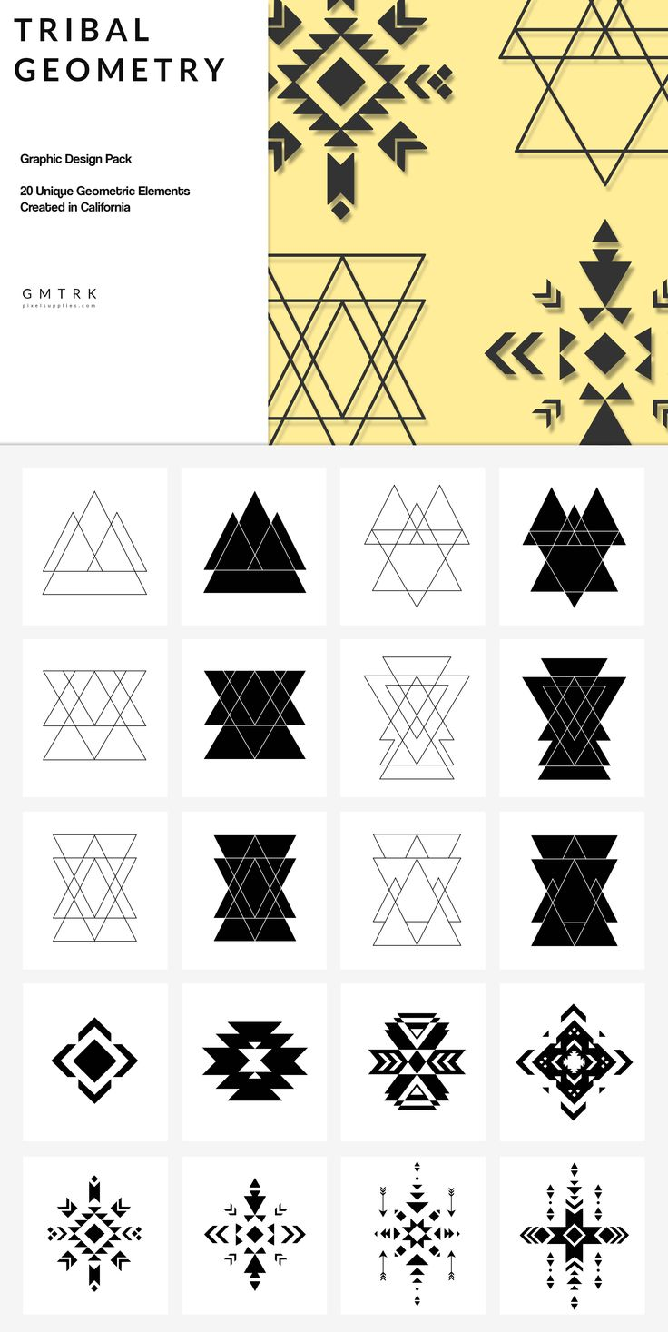 Tribal Geometry by Pixel Supplies on @creativemarket