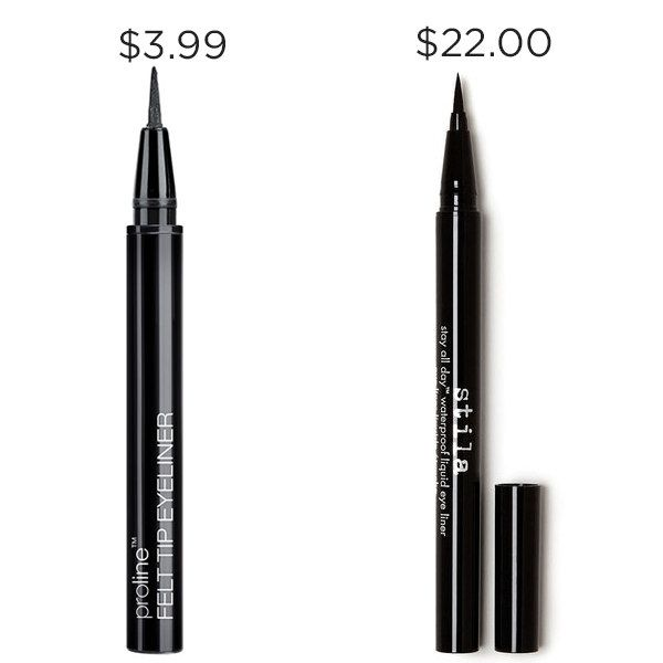 Perfect that wingtip with Wet n Wild's Proline Felt Tip Eyeliner for $18 less than Stila's Stay All Day Liquid Eyeliner.