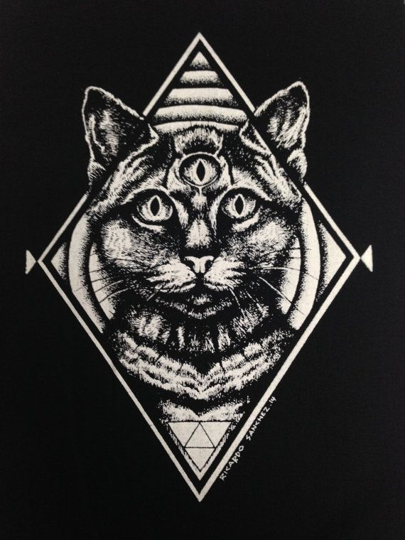 Third Eye Cat  Back patch Patches Punk Patch par OneHandPrinting