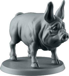 Circe's Pig. Sculpted by Irek Zielinski