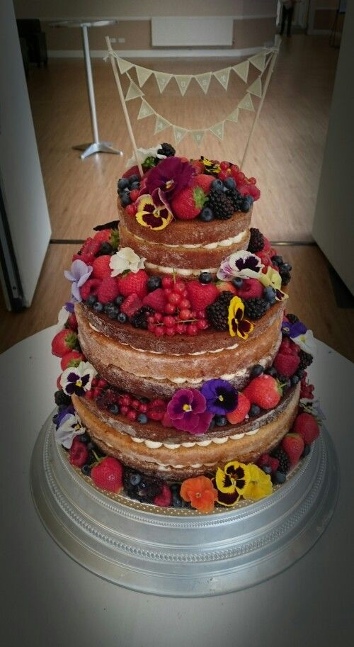 A Berry nice Naked Wedding Cake... From Pirate Baker