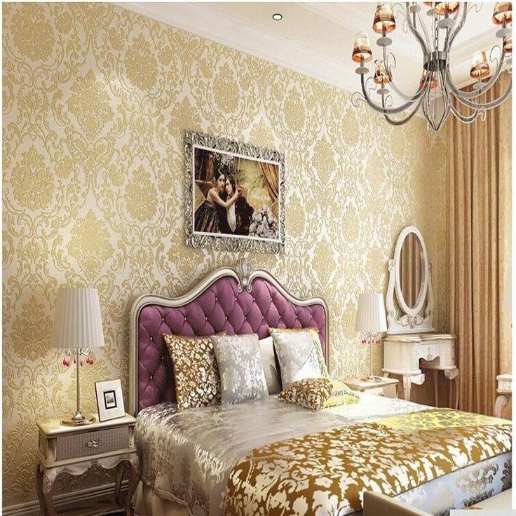 Дамаск Европейский обои обои стены 3D бумажных обоев стены Цветочные нетканые обои дамаск home decor