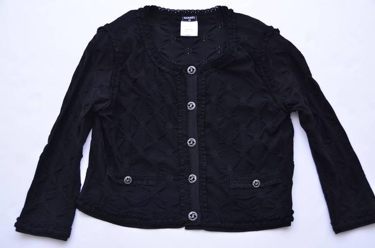 CHANEL Black Cardigan   Mint  4