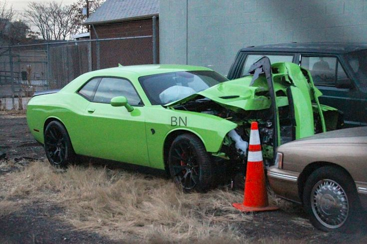2015, dodge, hellcat, crash, colorado