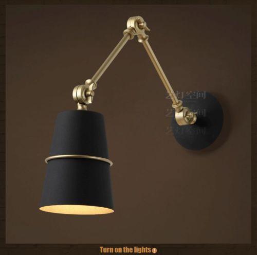 modern swing arm adjustable sconce e14 light wall lamp europe lighting. Black Bedroom Furniture Sets. Home Design Ideas