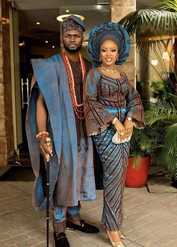 African traditional wedding aso oke complete set for