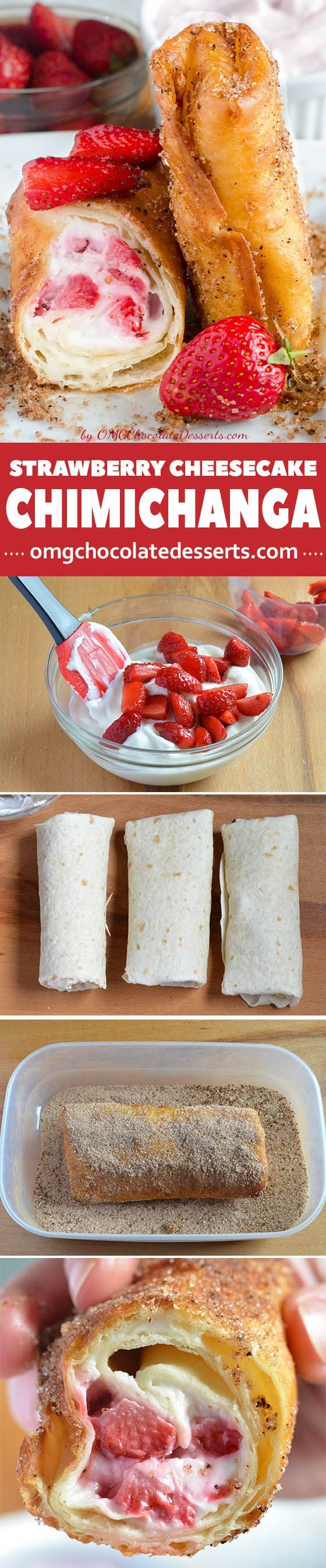 Need delicious and easy breakfast or easy dessert recipe - check why this U.S Southern chimichanga recipe with strawberry filling is best choice for you.