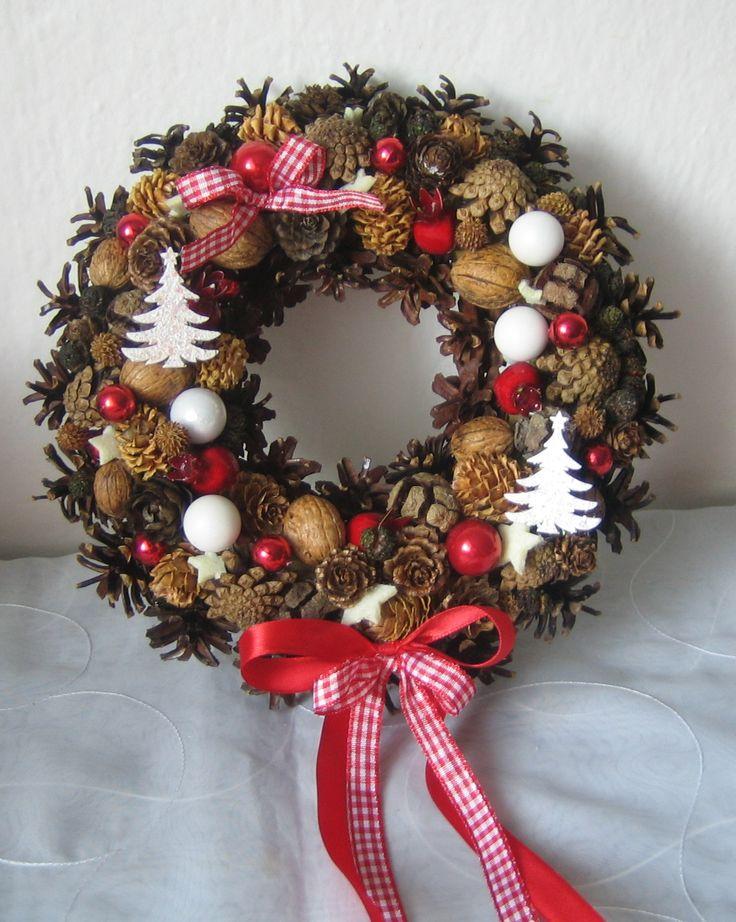 Výsledek obrázku pro vánoční věnec na dveře