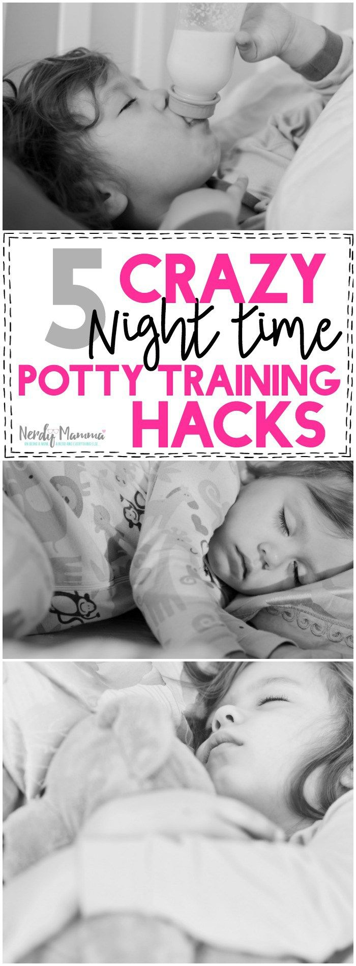 Oh man! This mom totally wins the Ms. Potty Training Mom of the Year Award! Two at once! I can't believe she doesn't have more than these 5 crazy nighttime potty training hacks! LOL!
