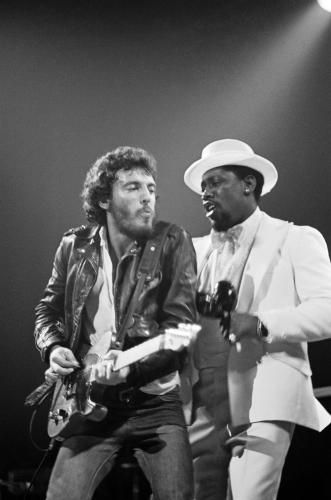 Bruce Springsteen and Clarence Clemons performing on stage | Music Prints | Sonic Editions